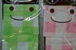 チェックピクルス トイレットペーパーカバー(グリーン、ピンク)